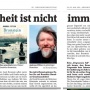 05-2019. Interview in der BZ, 29.5.19
